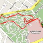 Strecke 17. Lauf im Volkspark Friedrichshain