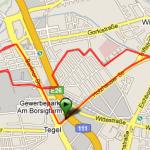 Strecke in Reinickendorf
