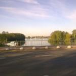 Brücke zwischen Seddinsee und dem Zeuthener See - Richtung Zeuthen