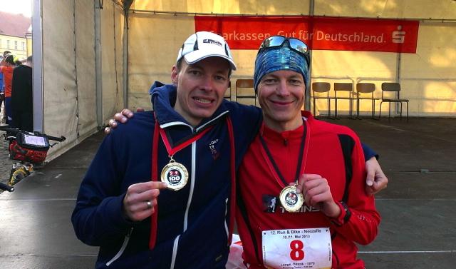 Run & Bike Neuzelle - vor Siegerehrung