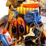 Meine Ausrüstung am Vorabend gepackt