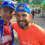 Mit Staffelläufer Marius vor dem Start in Bergün
