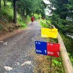Letzter Kilometer vor Davos Stadion - der geht auch noch