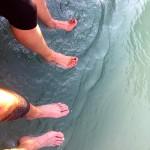 Fußbad in der Aare